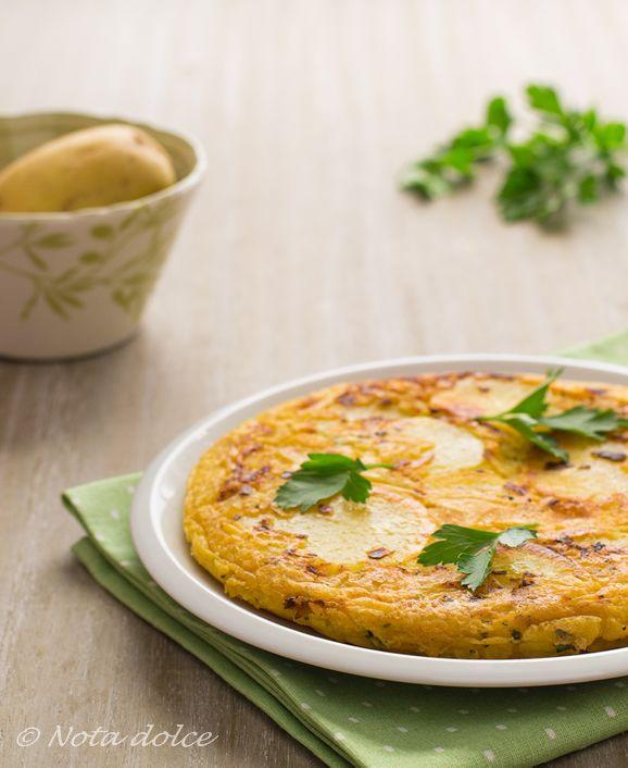 Tortilla di patate e ceci ricetta gustosa e facile