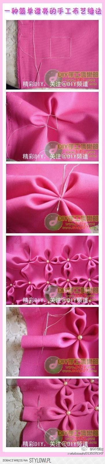 Flowers on the fabric
