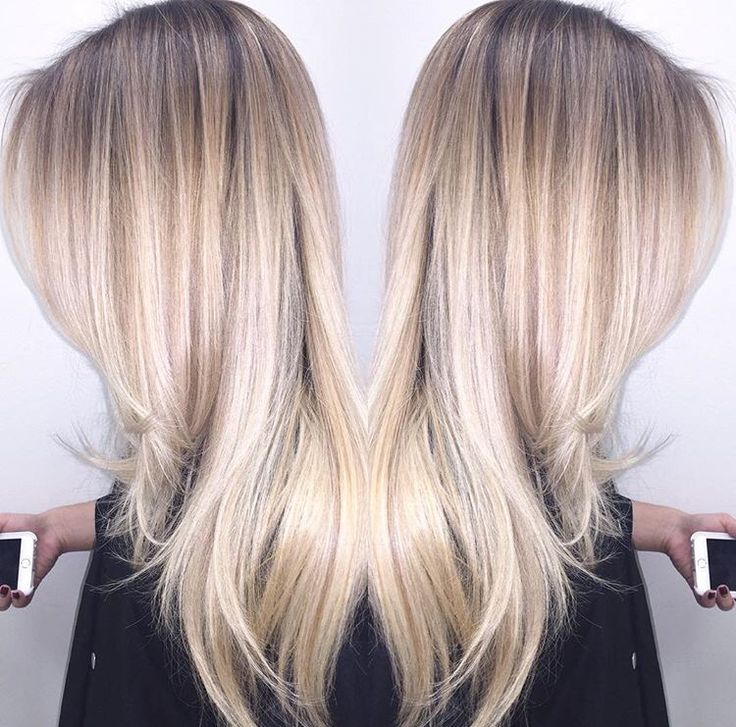 Ashy blonde balayage by IG @chelsea_thestylist at Hush Hush Bang Bang, Costa Mesa.