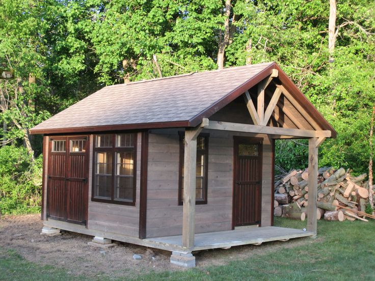 The Challenger is a rustic, portable storage building that is perfect for placing by the woods. Use it to relax and get away from the hustle of life.