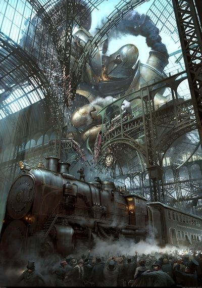 That awkward moment when a giant death-robot of doom, wrecks your train-station. I just hate that moment, don't you?
