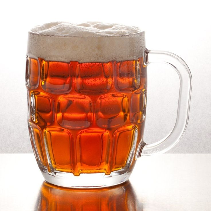 Dimpled mug glass
