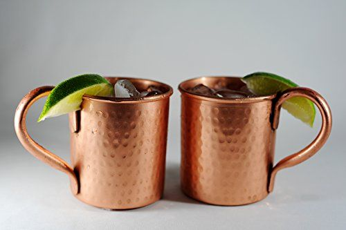 Set of 2 hammered Copper Mugs for Moscow Mules - 14 oz size Alchemade http://www.amazon.com/dp/B00KBWG3O4/ref=cm_sw_r_pi_dp_1FGHub1A2GRD2