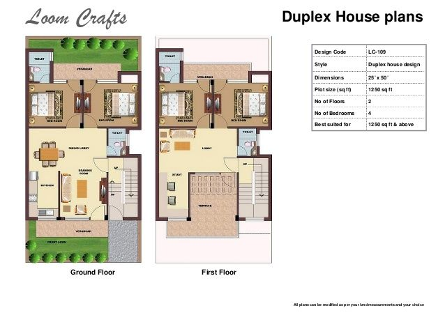 25 X 50 3d House Plans With Loom Crafts Home 19948 Design Ideas Duplex House Plans House Plans 3d House Plans