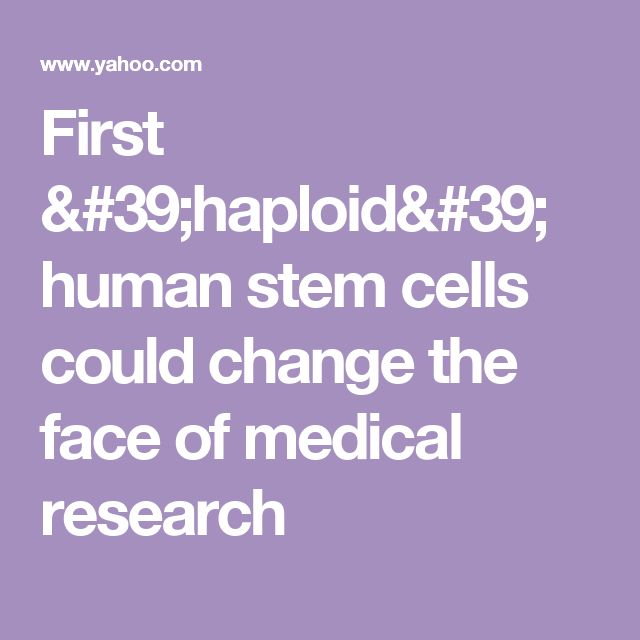 First 'haploid' human stem cells could change the face of medical research