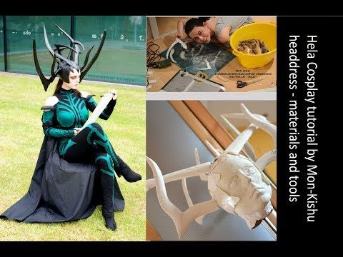 Hela Thor 3 Ragnarok Cosplay Headdress Tutorial - 01 Materials and Tools - YouTube