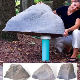 28 best images about cover ups on pinterest rain clouds for Landscape rock utility cover