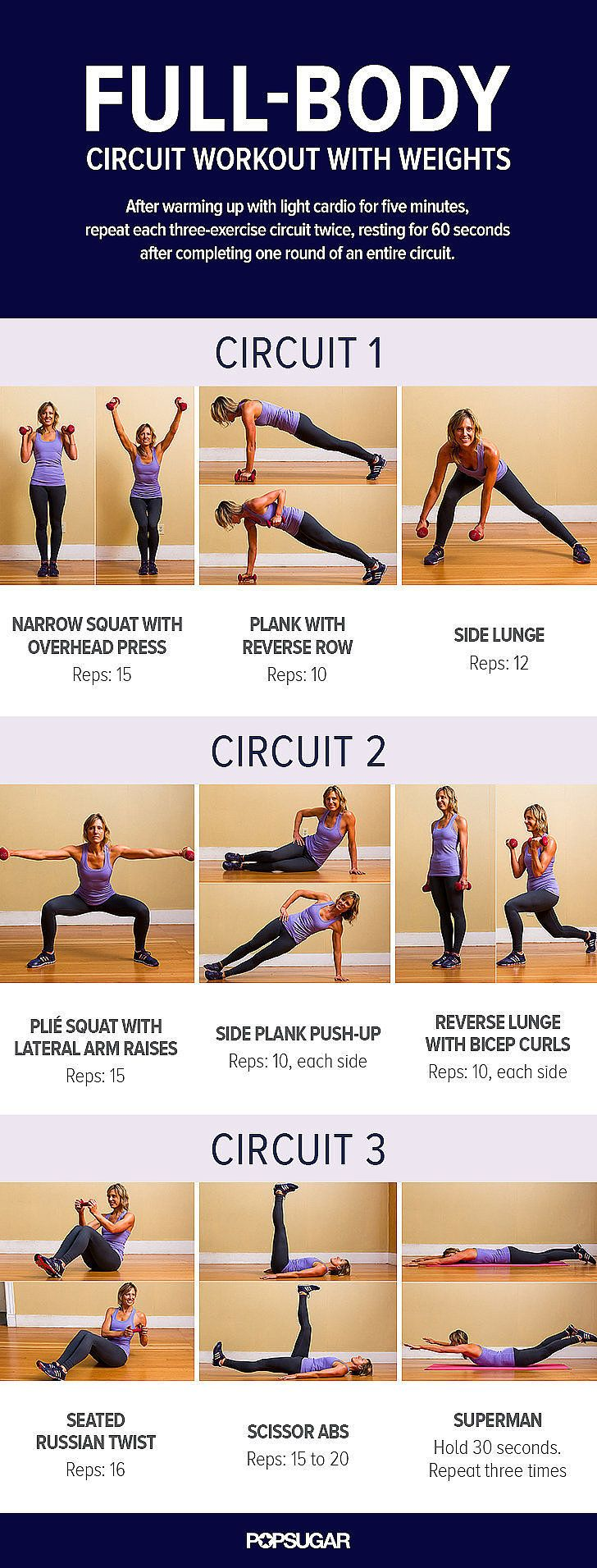 Full-Body Circuit Workout With Weights