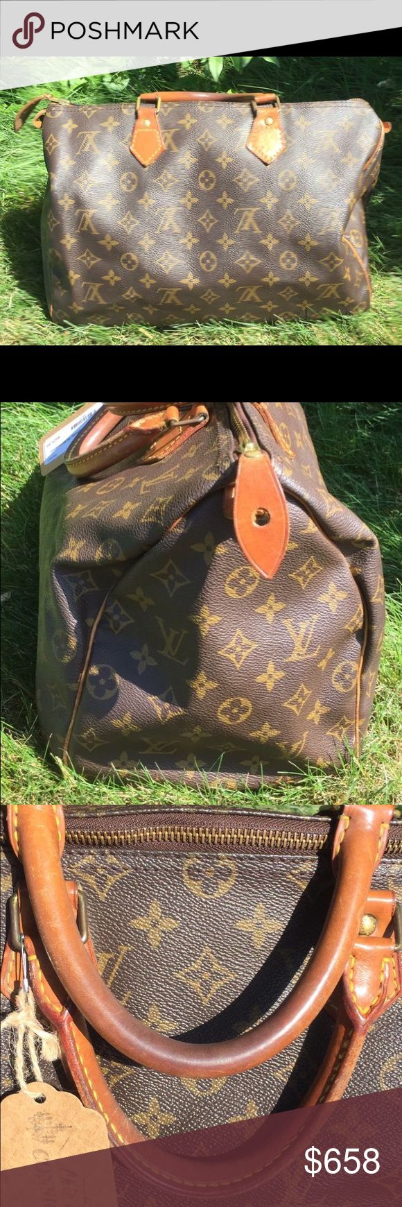 Louis Vuitton Speedy 35 100% AUTHENTIC- great condition - Price firm no trades - buy for less & more pics at www.chicboutiqueconsignments.com! MA's #1 designer consignment boutique! Louis Vuitton Bags Totes