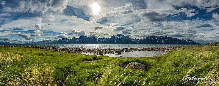 The Lyngen Alps in Lyngen, Troms, northern Norway