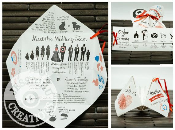 Fortune Teller Wedding Program Customizable by JessichuCreations