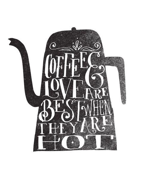 COFFE & LOVE Art Print by Matthew Taylor Wilson | Society6