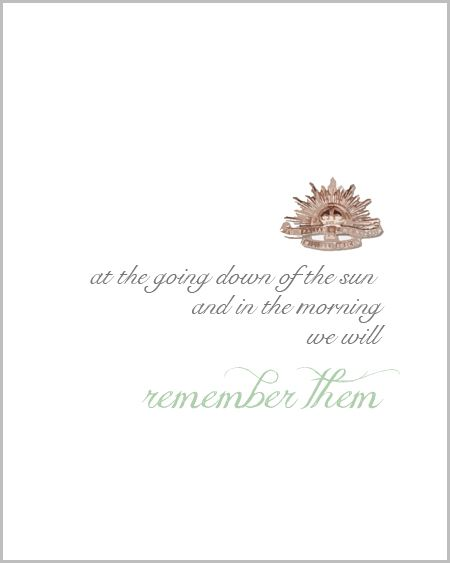 Free ANZAC Day Printable Art Print - Frame it or use in a scrapbook.