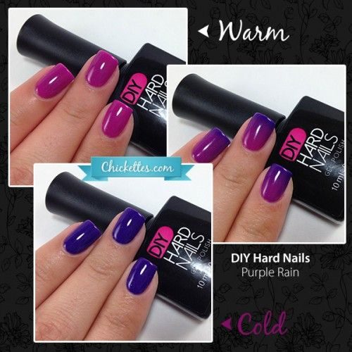DIY Hard Nails - Purple Rain