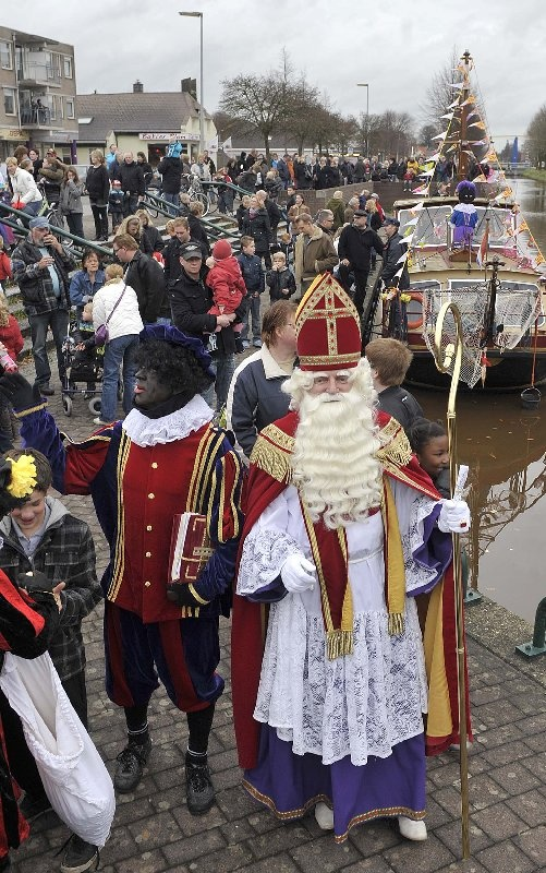 Holland - Sint Nicolaas is visiting town Emmer-Compascuum