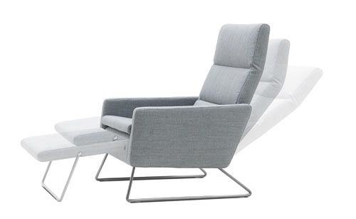 BoConcept's latest products include this Pinto chair, which caught my eye because there aren't too many stylish recliners out there. With BoConcepts clever