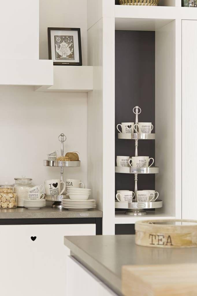 Riverdale Mok Coffee Wit - 12x8,5xH10,7 cm - Sweet Living Shop