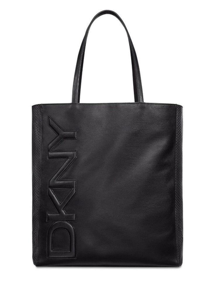Dkny Parfums Black Tote Bag Purse Handbag Shopper Travel Weekender Bag