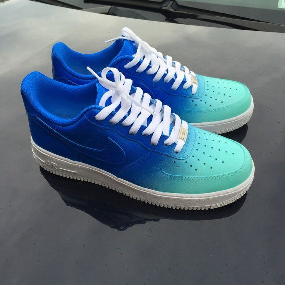 Custom Nike Air Force 1 Low Sapphire x Tiffany by 2nicecustoms