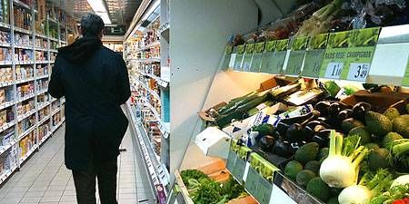 A Franprix supermarket in Paris, France