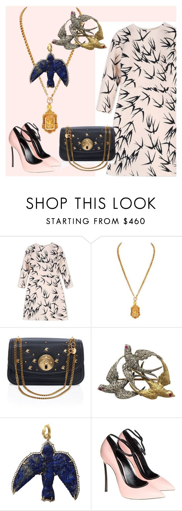 """When the Swallows Return to Capistrano"" by engleann ❤ liked on Polyvore featuring Rochas, See by Chloé, Sylva & Cie and Casadei"