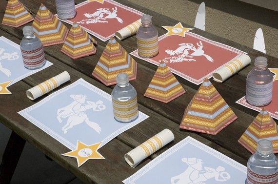 Printable Cowboy & Indian Party from Mélangerie Inc. for $11 at: http://www.etsy.com/listing/55109502/printable-cowboy-and-indian-party