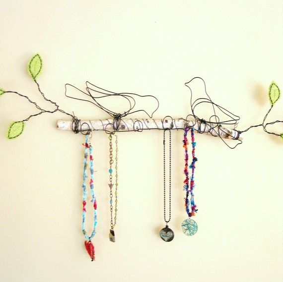 wire birds . . . on a twig . . . sold on Etsy
