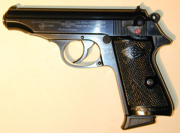 Post-war Walther PP pistol made under license in France by Manurhin. Find our speedloader now! http://www.amazon.com/shops/raeind