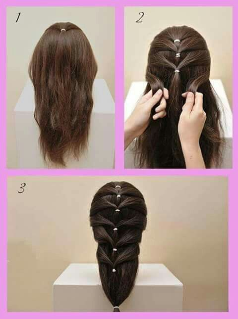 I love the contrasting elastic to hair colour and it is easy to do.