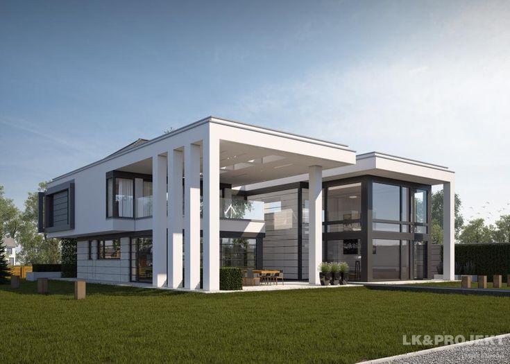 projekty dom w lk projekt lk 1274 wizualizacja 5 architecture pinterest. Black Bedroom Furniture Sets. Home Design Ideas
