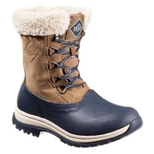 The Original Muck Boot Company Arctic Apres Lace Winter Boots for Ladies - Otter/Dark Navy - 11M