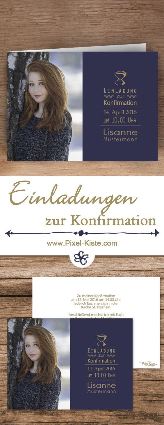 Individuell Nach Wunsch Gestaltete Einladungskarten Zur Konfirmation (oder  Kommunion) Als Faltkarte Oder Postkarte Online