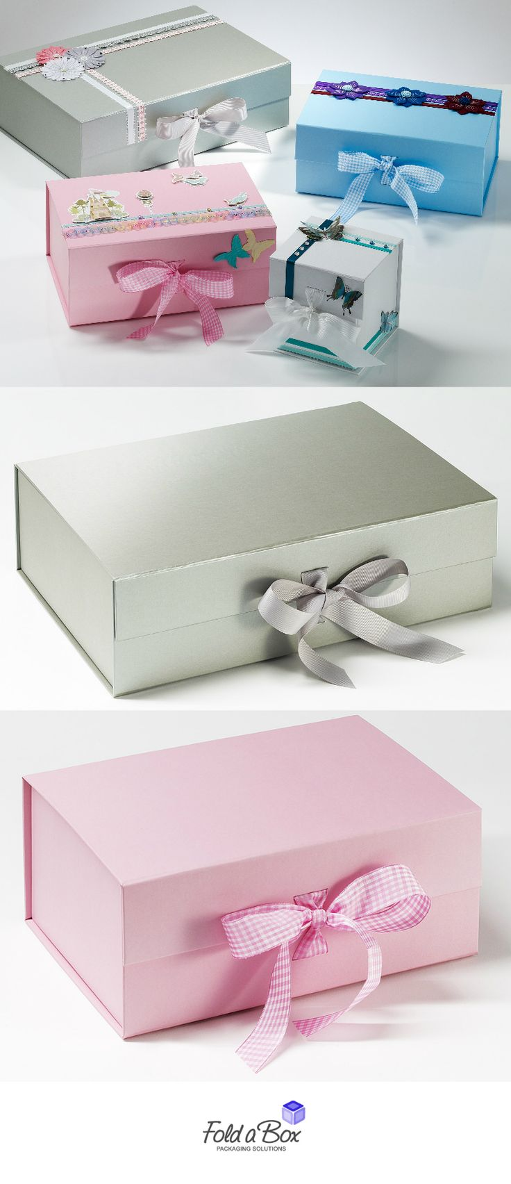 The perfect blank canvas for your own hand crafting ideas. Gift boxes from FAB. www.foldaboxusa.com