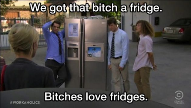 Sam remember that time I said I was enjoying the fridges company?! I must not be the only one!! Workaholics :)