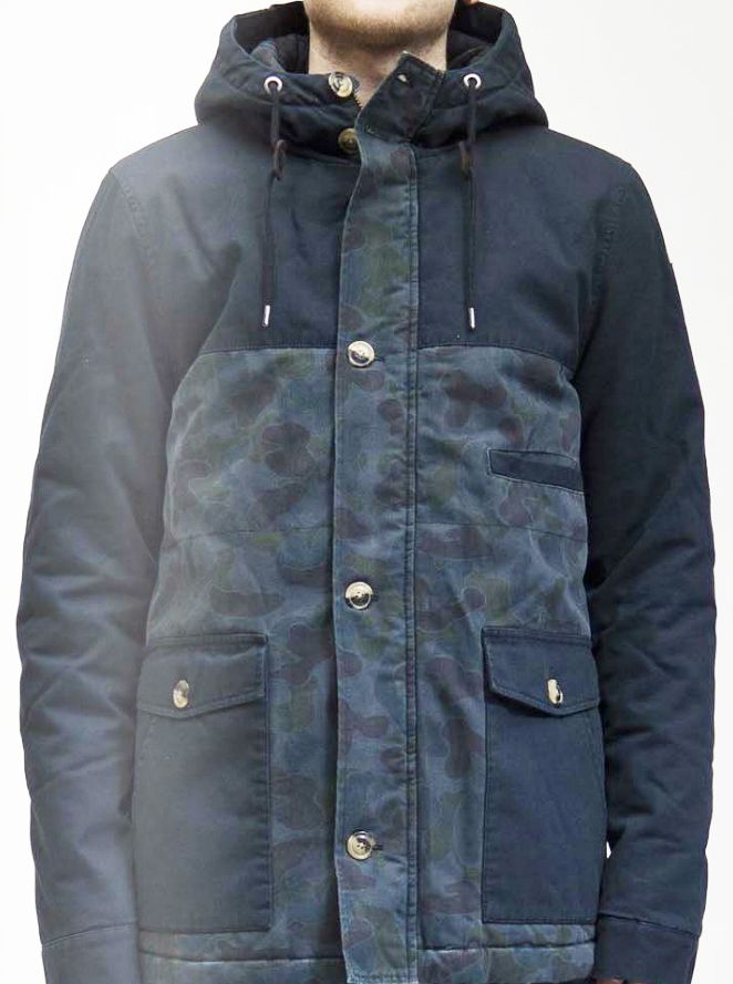 RVLT Luke Jacket - Camo Navy