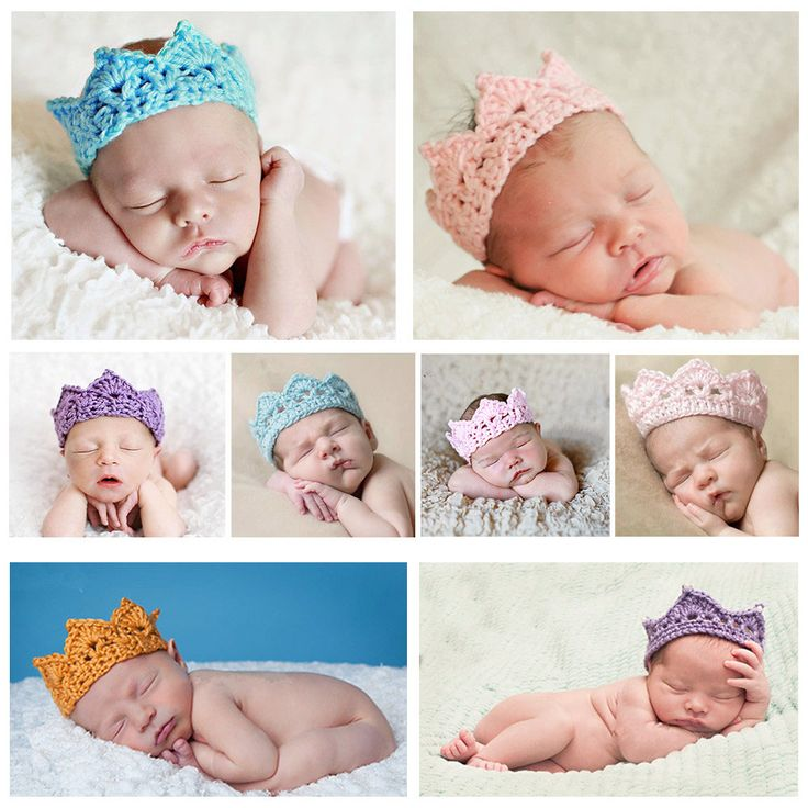 Baby Infant Headband Crown Knitting Crochet Costume Soft Adorable Clothes Newborns Photography Props Baby Photo Hat Cap-in Hats & Caps from Mother & Kids on Aliexpress.com | Alibaba Group