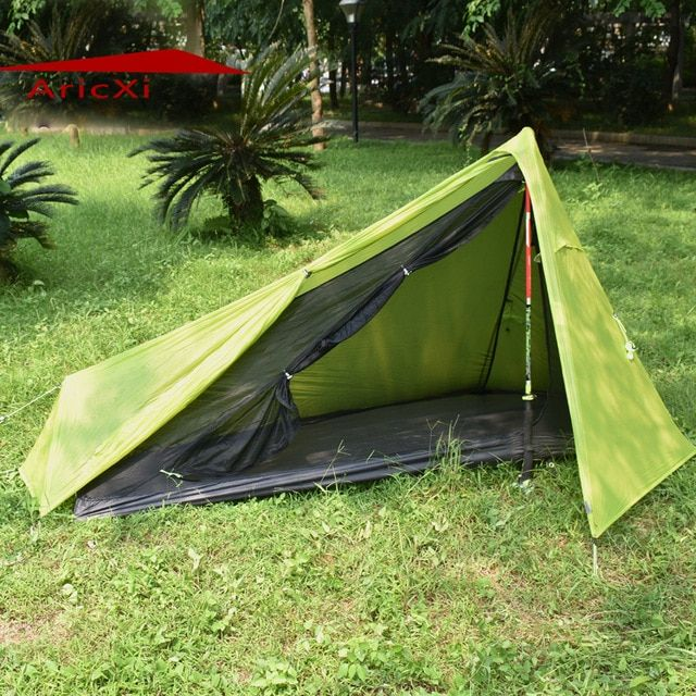 Aricxi New 1 Person Oudoor Ultralight Camping Tent 3 Season Professional Double Sides 15d Silnylon Rodless Tent Review Tent Tent Reviews Ultralight Camping