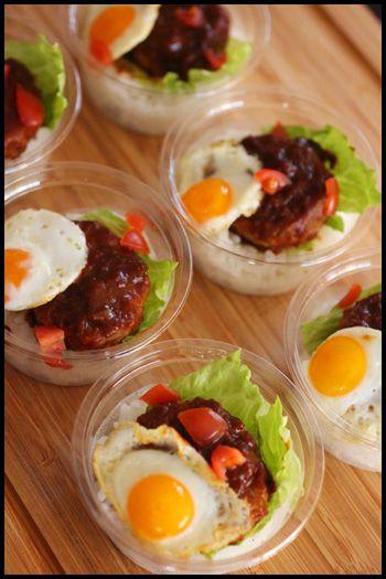 adorable hamburger steak, lettuce, quail egg, rice