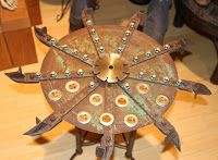Antique Industrial Gear Ouija Board Table   Using antique gears from Iron Anarchy , craftsman Brent Stuart of Concord, CA makes amazing i...