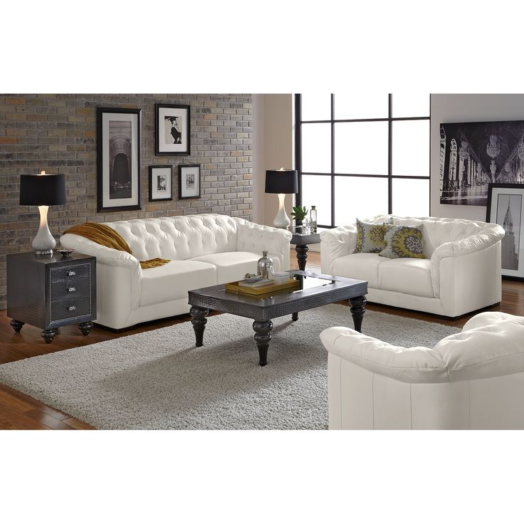 White Leather Sofa Rooms To Go: 22 Best Black Living Room Furniture Images On Pinterest