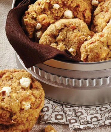Biscuits au maïs soufflé et caramel salé
