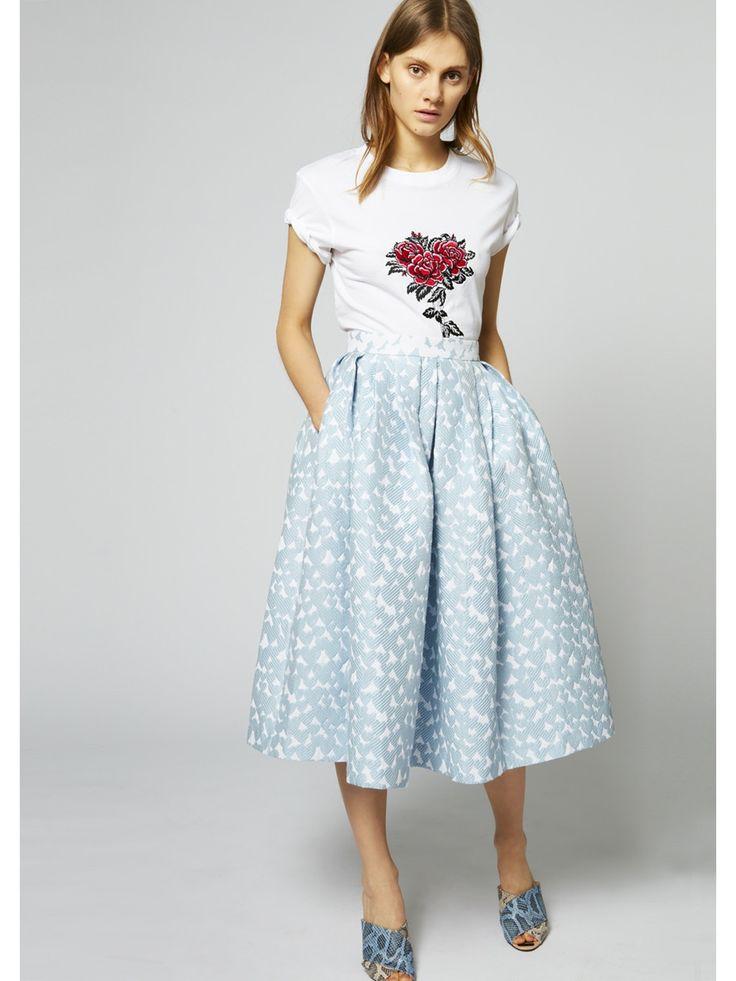 HOUSE OF HOLLAND Heart Dirndl Skirt. #houseofholland #cloth #