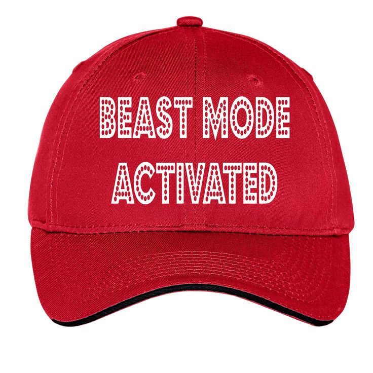 Beast Mode Activated Funny Cap Hat Black Red White Navy Mens Womens Baseball Trucker Gift by TimeofReason on Etsy