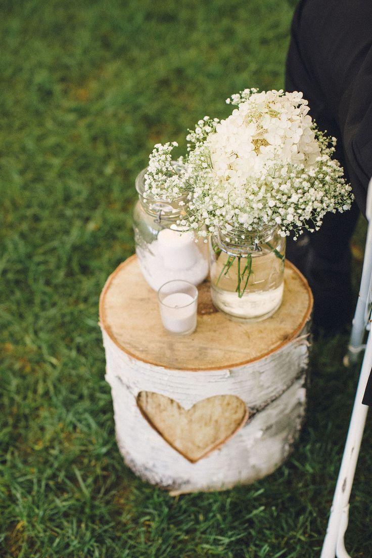 Rustic Baby's Breath Brich Wedding Decor - Deer Pearl Flowers