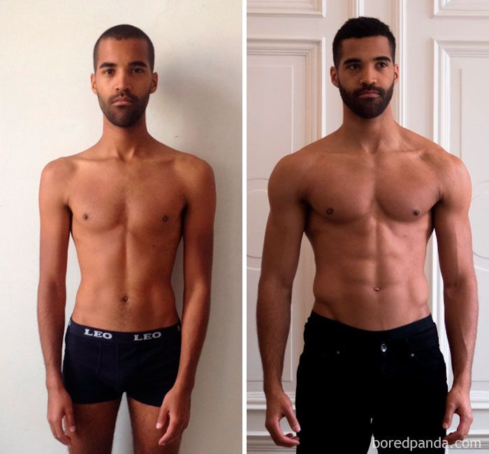 97 Unbelievable Before After Fitness Transformations Show How Long It Took People To Get In Shape Body Transformation Men Transformation Body Fitness Transformation