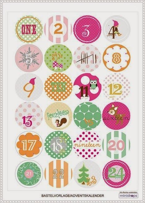 Diy no l inspirations 1 des etiquettes calendriers de l 39 avent et illustrations imprimer - Calendrier de l avent pinterest ...