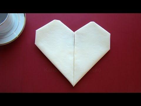 Servietten falten Herz - einfache Tischdeko zum Muttertag & Hochzeit - YouTube