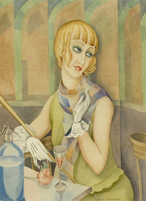 Gerda Wegener (Danish, 1889-1940) Portrait of Lili Elbe (born as Einar Wegener). 1928 г.