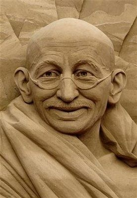 Gandhi Sand Sculpture | 26 Epic Works Of Art Made With Sand