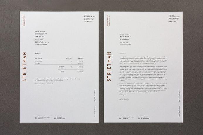 invoice Vincent Meertens Strietman Identity_06 in Branding & Identity